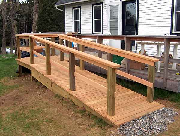 Heja wooden wheelchair ramp plans for Building a wheelchair accessible home